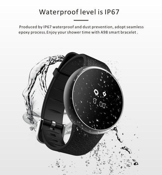 "0.66"" GEJIAN Bluetooth SmartWatch, Blood Oxygen & Heart Rate Monitor, Sports Pedometer, Waterproof Fitness Tracker for Android and iPhone"