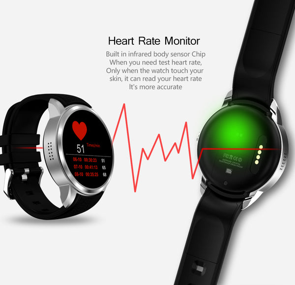"1.39"" Smartch Android 5.11 SmartWatch 16GB, IP67 Waterproof - support 3G, WIFI & GPS, Nano SIM card, Heart Rate 2.0 Sensor, Camera"