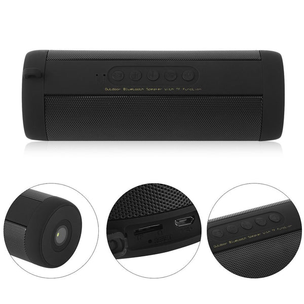 Wireless Outdoor Portable Bluetooth Speaker and Music Sound Box Soundbar for Secure Digital TF Memory Card Playback, USB or MP3 Bluetooth Playerback