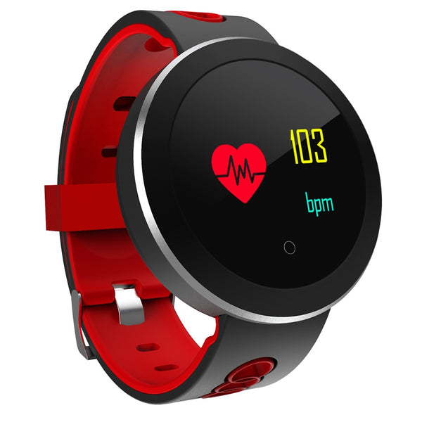 "1.0"" Sport SmartWatch, Blood Pressure, Heart Rate Monitor, Fitness Tracker, Pedometer, OLED Touchscreen, Waterproof for Men and Women"