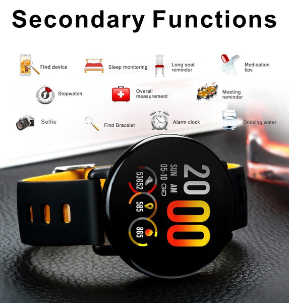 "1.3"" SENBONO SmartWatch, IP68 Waterproof, Clock, Activity Fitness tracker, Heart rate monitor and Smartwatch for Android & iPhone"