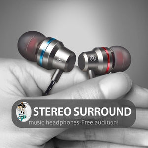 Wired Metal Color High-Quality Super Base Stereo Earphone with Microphone for hands-free calling