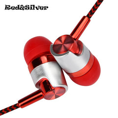 High-Quality Metal Stereo Headphone with Microphone