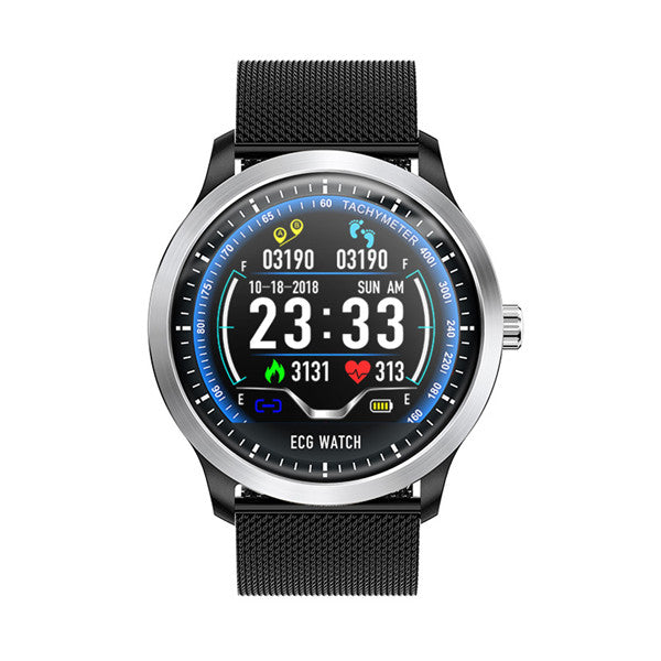 "1.22"" Android EKG SmartWatch with ECG (ElectroCardioGraph), Fitness Tracker, Heart Rate Monitor & Blood Pressure Wristband for Android & iPhone"