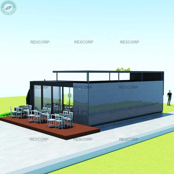 Exclusive Outdoor Tablet Café with indoor kitchen and table areas