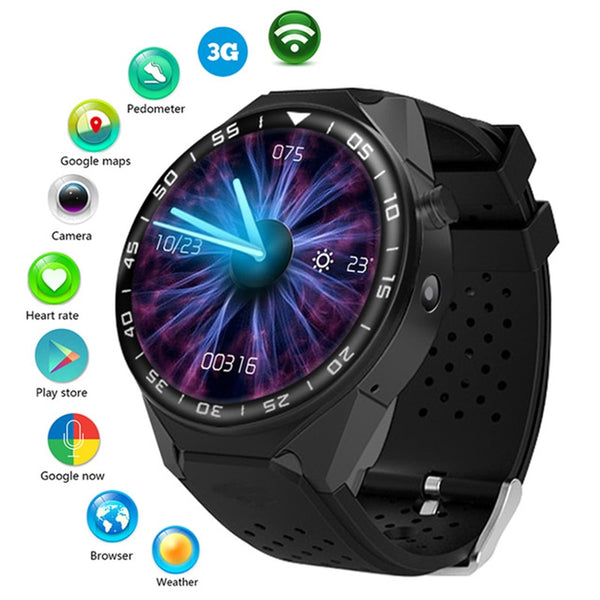 1.39 Android Bluetooth SmartWatch for Google Apps with Google Maps GPS, Heart Rate Sensor, Pedometer Fitness Tracker, Whatsapp, Skype, Twitter, etc.