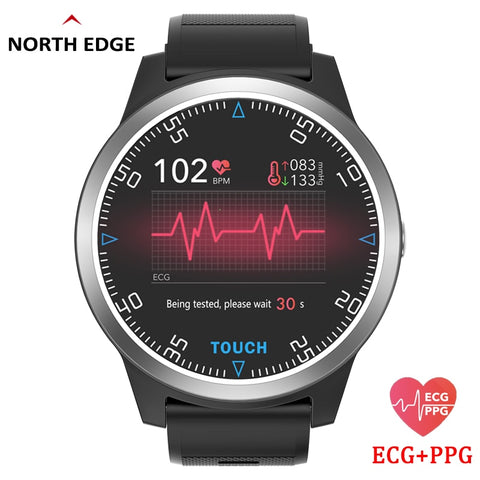 2019 Sporty IP67 Waterproff SmartWatch with ECG/PPG Blood Pressure, Heart Rate & Sport Fitness Activity Monitor for iOS & Android phones