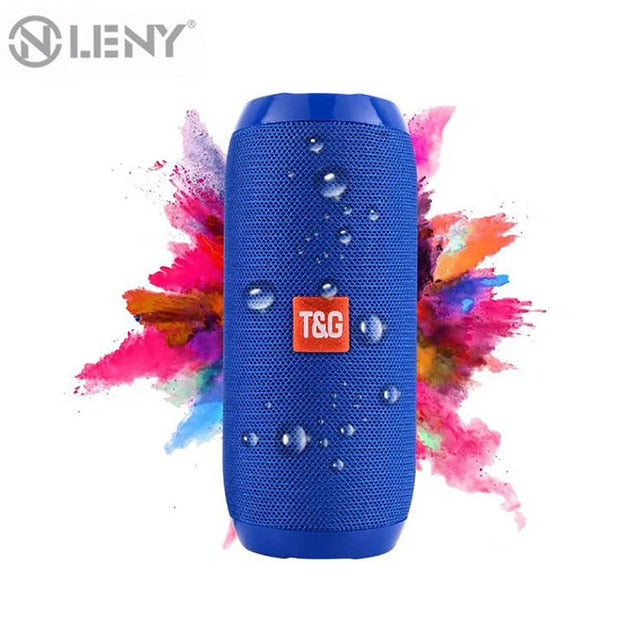 Waterproof Bluetooth Speaker, Portable Rechargeable and Outdoor Wireless Speaker Soundbar with Subwoofer, built-in Microphone, Bluetooth, MP3 and TF Card Playback