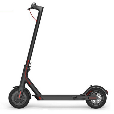 Electric Scooter, Folding - 350W battery, 30 km range, 15-20-25 km/t Cruise Control (Black/White)