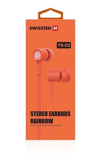 Swissten Earbuds Metal RAINBOW YS-D2 with Microphone & function button for SmartPhones, Tablets & iPhone