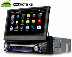 "1DIN Android 4.0 autoradio, 7"" touchskærm, GPS, DVD, DVB-TV"