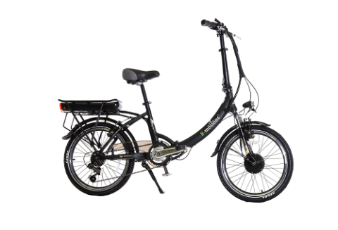 "26"" eMotion CityKing2 Black Folding Bike, 250W - 6 speeds"