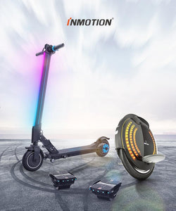 InMotion 2-wheel 35 km/t eScooter with 12 kg foldable and portable design for travel
