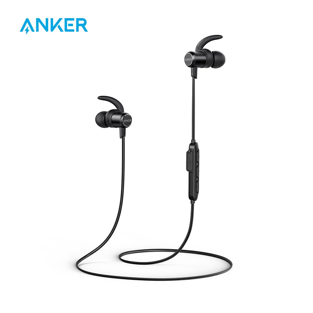 Anker SoundBuds - Slim Wireless Lightweight Headphones, Bluetooth 5.0 Earbuds, IPX7 Water Resistant, Sports Headset with Microphone