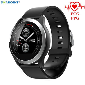 "1.22"" Bluetooth SmartWatch with ECG/PPG Blood Pressure, Heart Rate & Sport Fitness Activity Monitor for iOS & Android, IP67 Waterproff"
