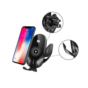 Qi Wireless Mobile Phone Charge & Holder for iPhone, Samsung and Android-phones with Fast Wireless Quick Charge options