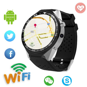 "1.39"" Bluetooth SIM-Card SmartWatch with Google Maps, Fitness Tracker, Heart Rate & Sleep Pulse Sensor, Push Notifications, Calendar functions"