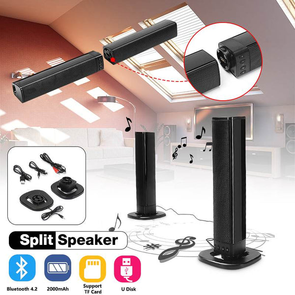 Wireless Bluetooth 3D Soundbar and 6-speaker Sound System for Home Theater TV with Bluetooth, AUX, HDMI or RCA Optical Input