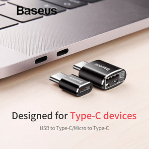 Baseus Micro-USB Type-C OTG Adapter Type-C Male to Micro-USB Female (Charger, Plug Adapter, Converter from Micro-USB to USB-C Adapter)