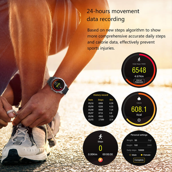 "1.4"" Bluetooth SIM SmartWatch with GPS, Heart Rate, Sleep Sensor & Pulse Fitness Tracker for Android Mobile & iPhone"