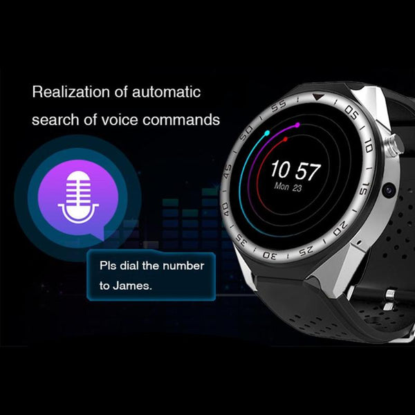 "1.39"" Bluetooth Nano-SIM SmartWatch with Google Maps, Fitness Tracker, Heart Rate & Sleep Pulse Sensor, Push Notifications, Calendar functions"