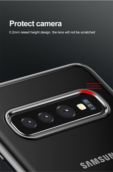 Baseus Luxury Phone Case For Samsung S10, S10+ (Ultra Thin Plating Soft Silicone Case For Samsung Galaxy S10 S10+ Phone Cover Case)