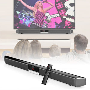 40W Home Theater Wireless Bluetooth 4 Speaker Soundbar with Subwoofer and full-frequency Bass Horn for Home Theather TV, SmartPhones and Tablets with Bluetooth
