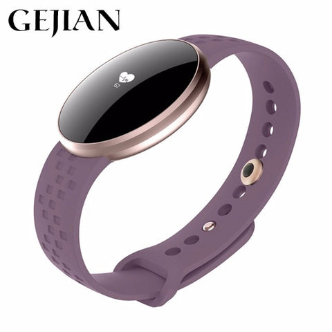 "0.66"" GEJIAN Bluetooth Smart Sports Bracelet with Heart Rate, Sleep Monitoring og Sports Calories SmartWatch for Fashion Woman"
