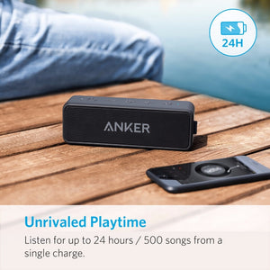 Anker SoundCore 2 - Portable Bluetooth Wireless Super Bass Soundbar Speaker, 24-Hours playtime, 66ft Bluetooth Range, IPX7 Water Resistance