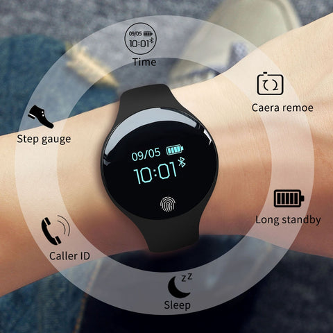 "0.66"" Bluetooth Intelligent Sports SmartWatch with Pedometer and Fitness Tracker Clock for Android and iPhone, Men & Women"