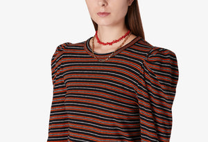 Amara Long Sleeve Puff Shoulder Tee