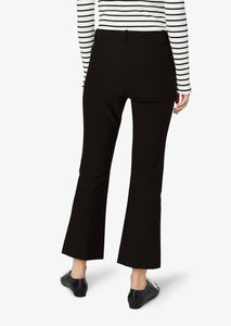 Black Crosby Crop Flare Trouser - Womens Pants by Derek Lam