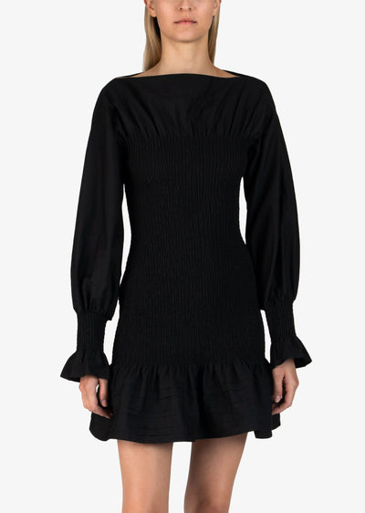 Black Dua Smocked Dress - Womens Dress by Derek Lam