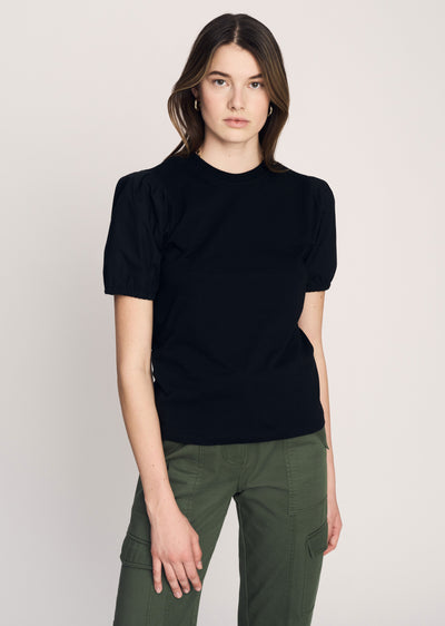 Black Eva Puff Sleeve T-Shirt - Women's T-Shirt by Derek Lam