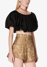 Load image into Gallery viewer, Black Hani Off Shoulder Bubble Top - Womens Top by Derek Lam