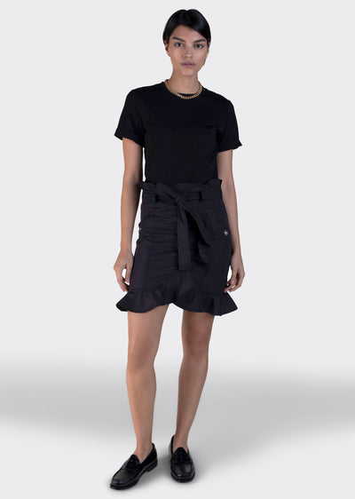 Black Hudson Mixed Media T-Shirt Dress - Womens Dress by Derek Lam