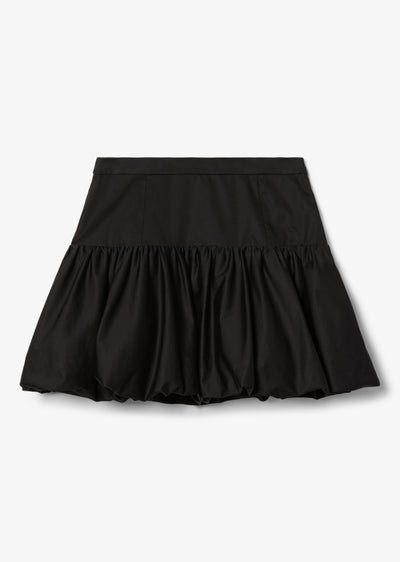 Black Kami Bubble Mini Skirt - Womens Skirt by Derek Lam