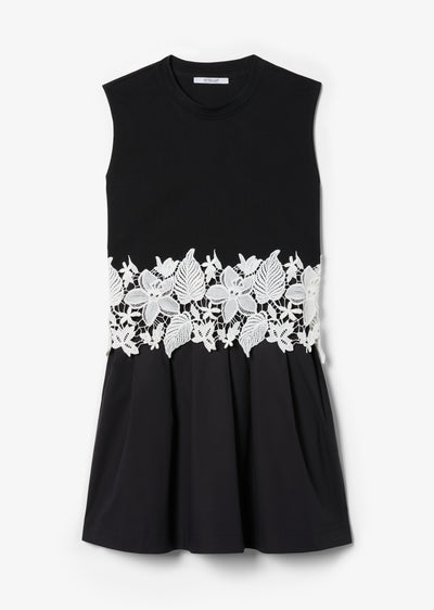 Black Lea Sleeveless 2-in-1 Dress - Womens Dress by Derek Lam