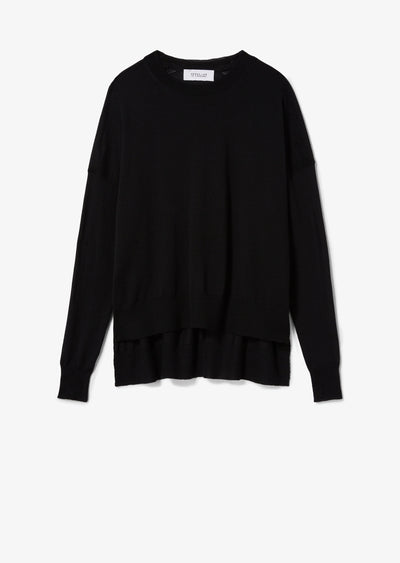 Black Mullholland Cashmere Crew Neck Sweater - Womens Sweater by Derek Lam
