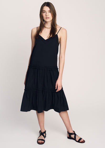 Black Odile Midi Dress - Womens Dress by Derek Lam