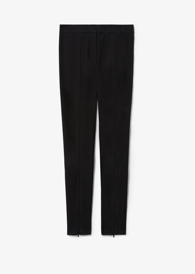 Black Ora Slim Trouser With Front Slit - Womens Pant by Derek Lam