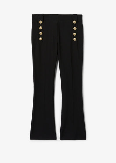 Black Robertson Crop Flare Trouser - Womens Pant by Derek Lam