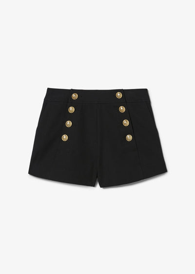 Black Robertson Sailor Short - Womens Shorts by Derek Lam
