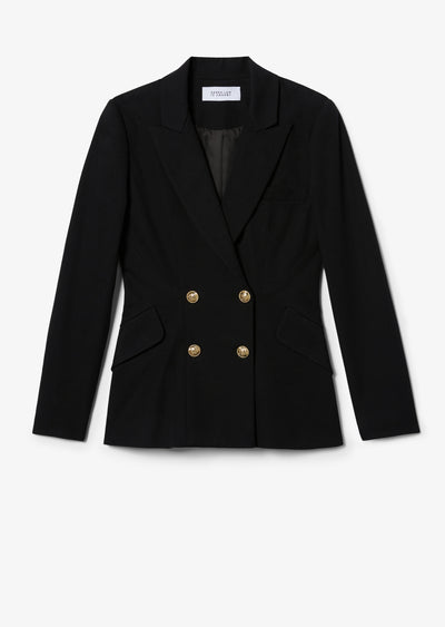 Black Rodeo Double Breasted Blazer - Womens Jacket by Derek Lam