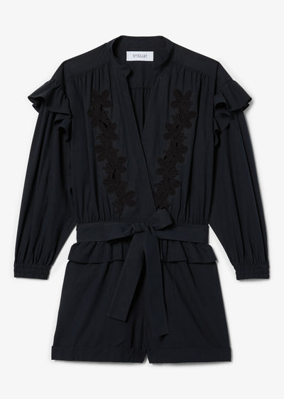 Black Romper - Womens Romper by Derek Lam