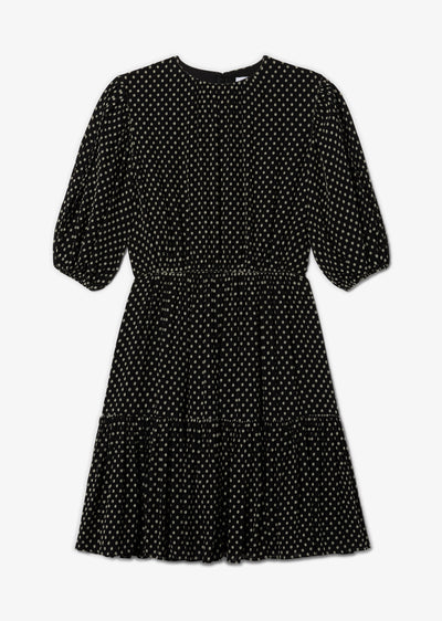 Black and White Kala Puff Sleeve Dress - Womens Dress by Derek Lam