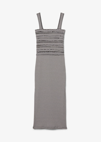 Black and White Nellie Ribbed Dress - Womens Dress by Derek Lam