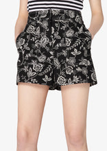 Load image into Gallery viewer, Black and White Odette Short - Womens Shorts by Derek Lam