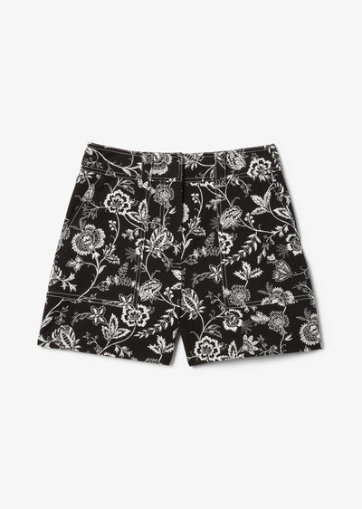 Black and White Odette Short - Womens Shorts by Derek Lam