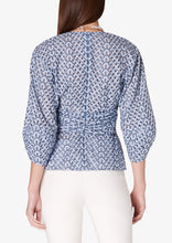 Load image into Gallery viewer, Blue Noe Blouse - Womens Top by Derek Lam